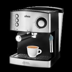 Cafetera Ufesa Espresso CE7240 para café molido o monodosis y capuccinos automática y capsulas